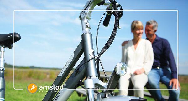 Amslod elektrische fiets met middenmotor